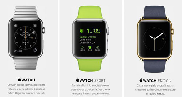 apple watch 05 06 2015 - Apple Watch: disponibile dal 26 giugno in Italia