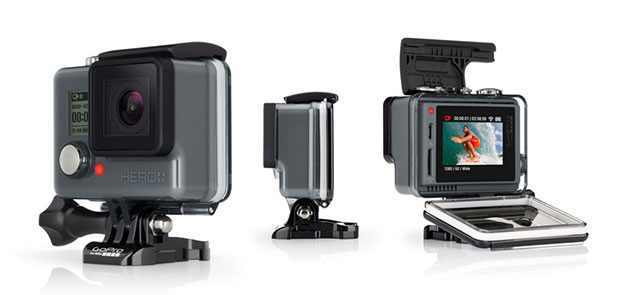 gopro hero  lcd 01 06 2015 - GoPro Hero+ LCD: action cam entry level con display posteriore