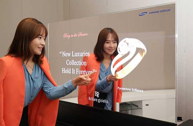 "samsungoled2 10 06 15 - Samsung svela OLED trasparenti e ""specchio"""