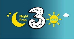 tre night unlimited 12 06 2015 300x160 - Tre Night Unlimited: 30GB di traffico su LTE ogni notte