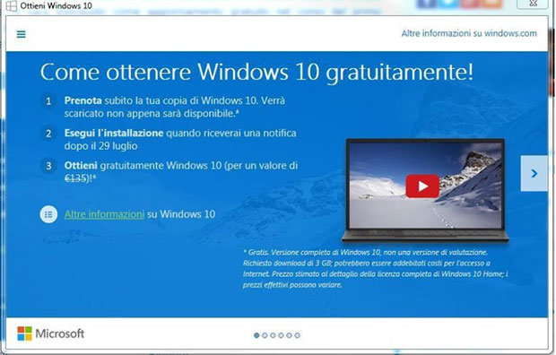 windows 10 25 06 2015 - Windows Home 10: prezzo fissato a 135€