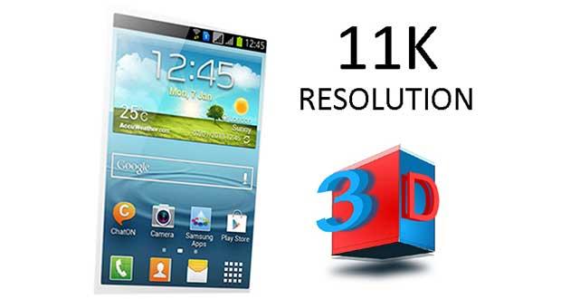 """samsung11k 1 13 07 15 - Samsung: display smartphone 11K con """"effetto 3D"""""""