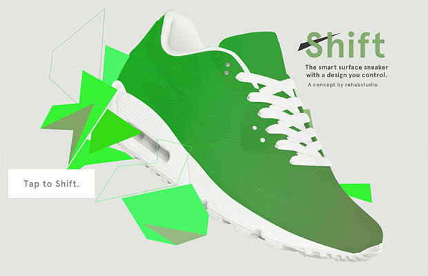 shift sneaker 03 07 2015 - Shift Sneaker: la scarpa che cambia colore e design con un'app