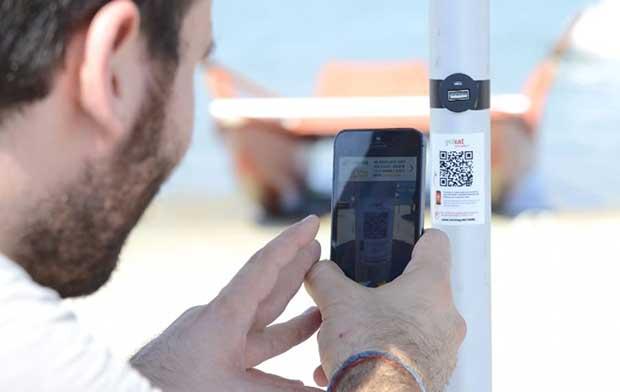 """smartbeach2 13 07 15 - SmartBeach: l'ombrellone 2.0 """"Made in Italy"""""""