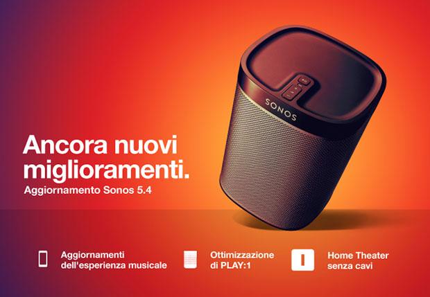 sonos 13 07 2015 - Sonos Controller App 5.4: miglioramenti Play:1 e home cinema