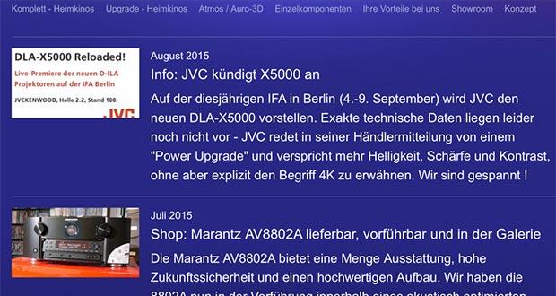 jvc x5000 10 08 2015 - JVC DLA-X5000: nuovo proiettore a IFA 2015