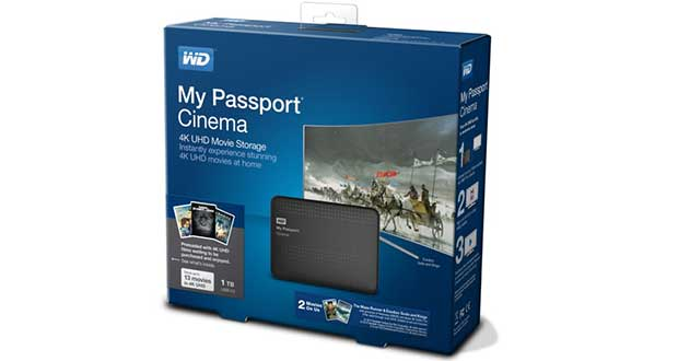 mypassportcinema1 05 08 15 - WD My Passport Cinema: hard-disk con film Ultra HD