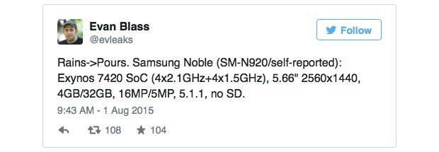 samsung galaxy note 5 2 03 08 2015 - Samsung Galaxy Note 5 senza microSD?