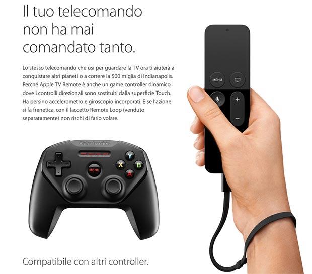 apple tv 6 09 09 2015 - Apple TV: telecomando con touchpad, tvOS e Siri