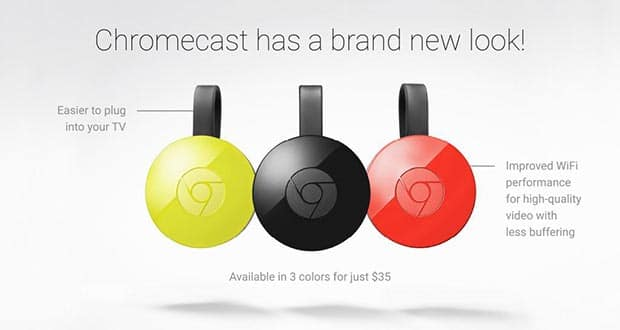 chromecast 2 3 29 09 2015 - Google Chromecast 2: film a noleggio e musica in regalo