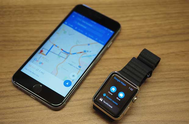 googlemaps1 30 09 15 - Google Maps iOS ora con supporto Apple Watch