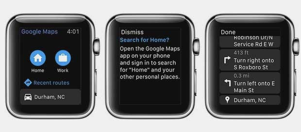 googlemaps2 30 09 15 - Google Maps iOS ora con supporto Apple Watch
