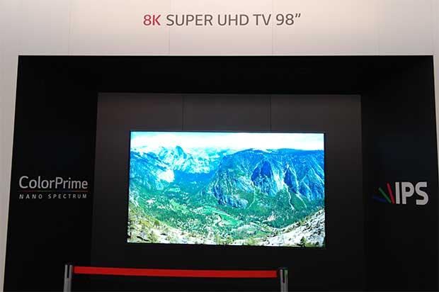 """lg8k 1 05 09 15 - LG: TV LCD 8K """"Quantum Dot"""" da 98 pollici"""