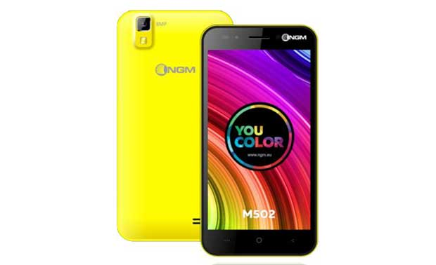 ngmm502 1 14 09 15 - NGM You Color M502: smartphone Dual-SIM, 4G e 64 bit