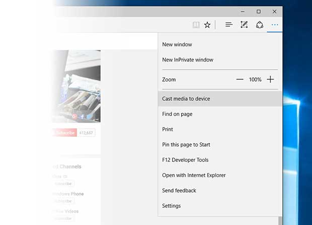 microsoft edge2 30 10 15 - Microsoft Edge: streaming multimediale al TV in arrivo
