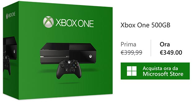 microsoft xbox one sconto evi 21 10 2015 - Xbox One: disponibile da 349€ sullo store Microsoft