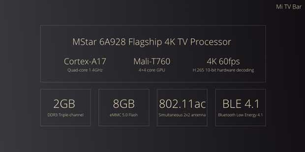 "mitv3 6 21 10 15 - Xiaomi Mi TV 3: TV 60"" 4K con Smart TV nella soundbar"