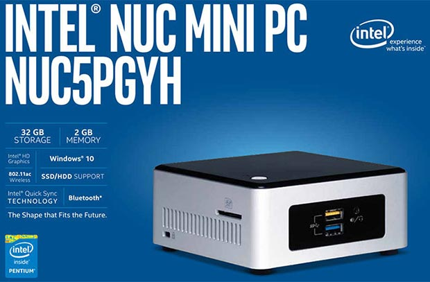 nuc 2 20 10 2015 - Intel NUC5PGYH: mini PC con CPU Braswell e Windows 10