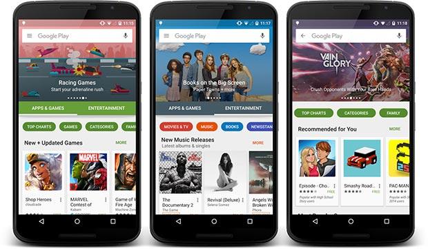 play store nuova ui 3 23 10 2015 - Google Play Store: nuova interfaccia grafica