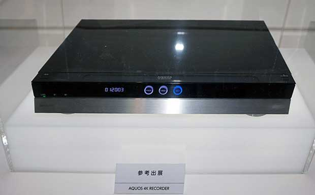 sharp ultrahd bluray 1 07 10 15 - Sharp: lettore / registratore Ultra HD Blu-ray al CEATEC