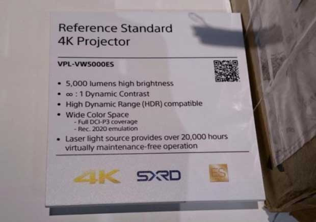vpl vw5000es 4k laser sony 2 15 10 2015 - Sony VPL-VW5000ES: proiettore 4K Laser HDR da 5.000 lumen