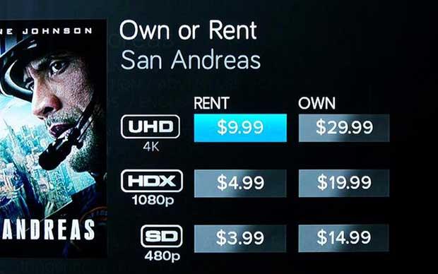 vudu uhd3 22 10 15 - VUDU: VOD 4K Ultra HD, HDR e Dolby Atmos