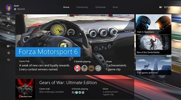xbox one aggiornamento 2 27 10 2015 - Xbox One: UI Windows 10 e giochi Xbox 360 dal 12 novembre