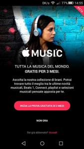 applemusic android7 11 11 15 169x300 - Apple Music disponibile su smatphone Android
