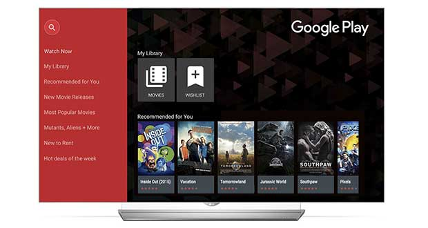lg googleplaymovies 18 11 15 - LG Smart TV: App Google Play Film in arrivo