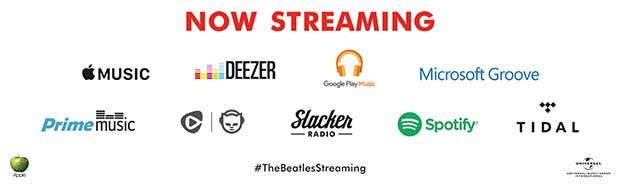 beatles streaming2 23 12 15 - I Beatles dal 24 dicembre sui servizi in streaming