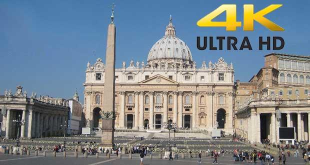 giubileo 4kUHD evi 02 12 15 - Giubileo: cerimonia in diretta Ultra HD via satellite