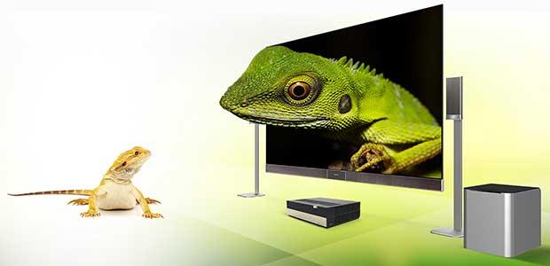 """hisense lasercast3 18 12 15 - Hisense Laser Cast: proiettore TV da 85, 100 e 120"""""""