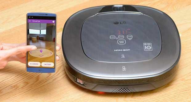 lg hom bot evi 22 12 15 - LG HOM-BOT Turbo+: robot aspirapolvere e telecamera sicurezza