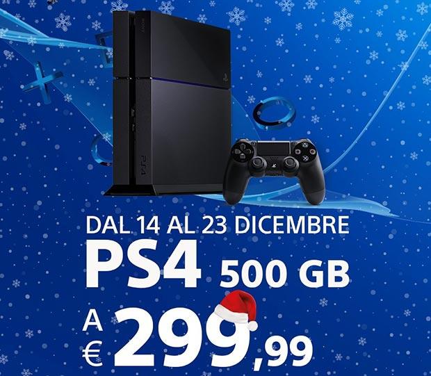 ps4 natale 14 12 2015 - PlayStation 4 in promozione a 299€ fino al 23 dicembre