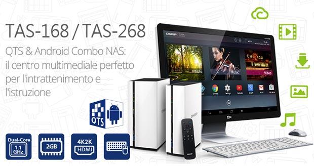 qnap tasx68 evi 01 12 2015 - QNAP TAS-168 e TAS-268: NAS con Android e HDMI 4K