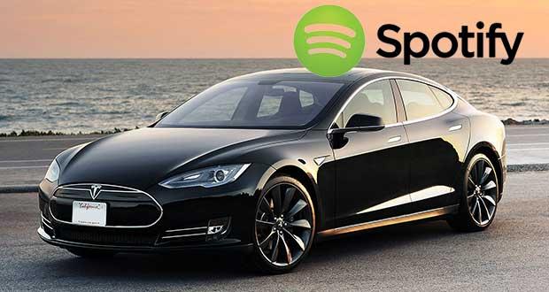 tesla spotify evi 22 12 15 - Tesla Model S con Spotify Premium incluso