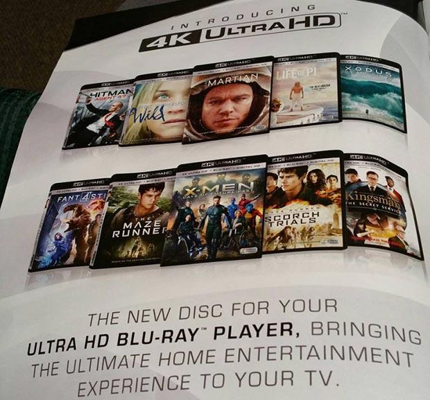 ultrahdbluray 29 12 2015 - Ultra HD Blu-ray: una pubblicità svela i titoli Fox