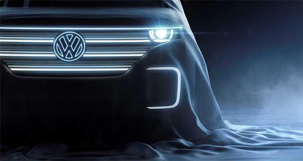 """vw microbus elettrico evi 31 12 15 - Volkswagen Microbus 100% elettrico e """"smart"""" al CES 2016"""