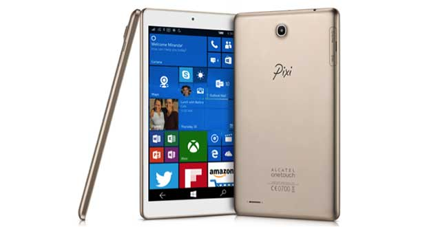 "alcatel onetouch pixi3 04 01 16 - Alcatel OneTouch Pixi 3: tablet da 8"" con Windows 10"