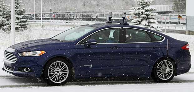 ford senzapilota neve1 11 01 16 - Ford: nuovi prototipi di auto senza pilota anche sulla neve