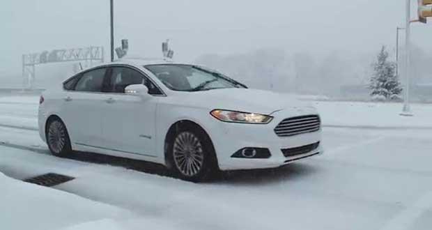 ford senzapilota neve evi 11 01 16 - Ford: nuovi prototipi di auto senza pilota anche sulla neve