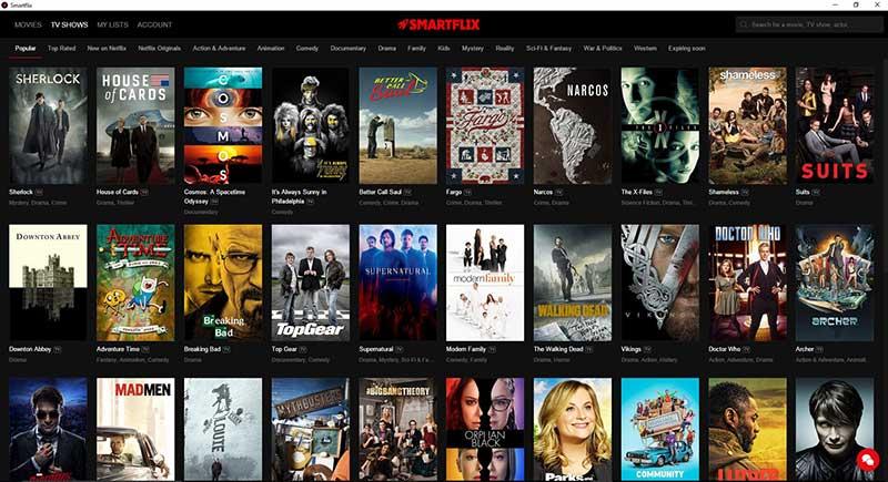 smartflix 2 15 01 16 - Smartflix: Netflix su PC senza restrizioni regionali