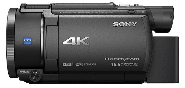 sony ax53 13 01 2016 - Sony AX53, CX625 e CX450: videocamere 4K e Full HD