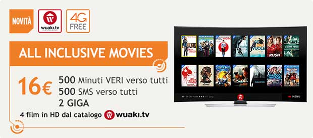 wind movies 2 28 01 16 - Wind All Inclusive Movies: minuti, SMS, 4G e 4 film HD al mese