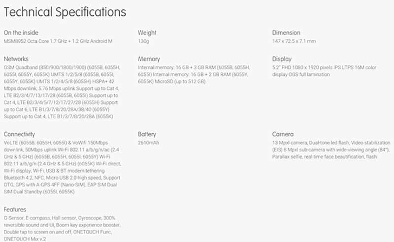 alcatel idol 1 04 02 16 - Alcatel OneTouch Idol 4 e 4S: i dettagli dei nuovi smartphone