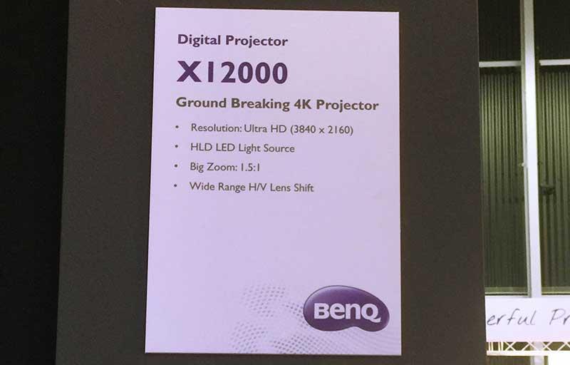 """benq x12000 2 09 02 16 - BenQ X12000: proiettore DLP 4K """"vobulato"""" a LED"""