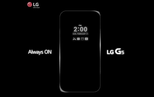 "lg g5 1 10 02 16 - LG G5 con notifiche display ""Always On"""
