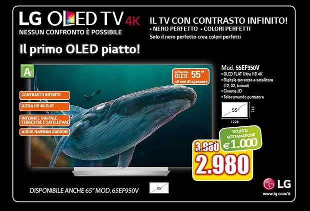 """lg oled 55ef950v 1 05 02 16 - LG OLED 4K """"piatto"""" EF950V da 55 pollici disponibile in Italia"""