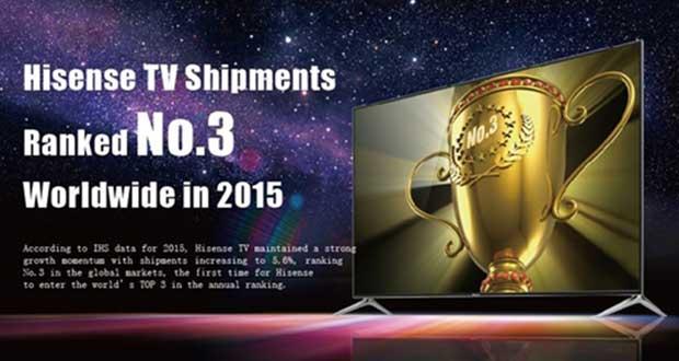 hisense quote evi 03 03 16 - Hisense: leadership TV in Cina e terza nel mondo