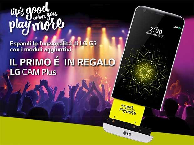 lg g5 23 03 16 - LG G5 in Italia da metà aprile a 699 Euro con modulo CAM Plus